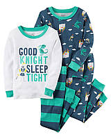 Комплект детских пижам для мальчика Carters хороший рыцарь, Размер 5T, Размер 5T