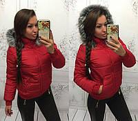 "Куртка ""Мемори"" с эко-мехом (синтепон 200)"