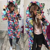 Женская куртка-пальто (плащёвка+синтепон 300)