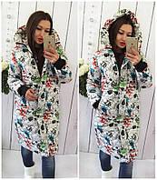 Женская куртка-пальто (плащёвка+синтепон 300) Сезон-зима Фото реальное