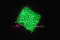 Светящийся песок 10г, зеленый