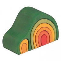 Конструктор деревянный Nic Дом Арка зеленый (NIC523042)