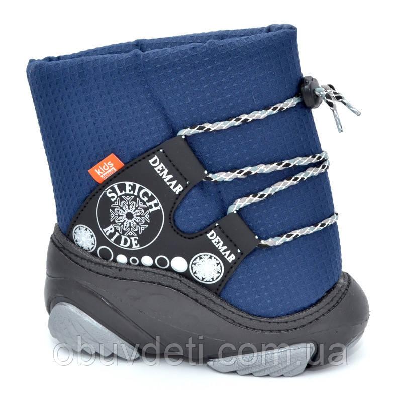 Детские теплые зимние ботинки Demar 26-27р - 17см