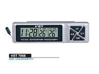 """Автомобильные часы + термометр VST 7066 """"соня""""/ прикурка-батарейка"""