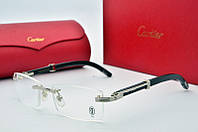 Имиджевые очки Cartier 318616 серебро