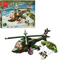 """Конструктор Brick 818 """"Вертолет"""" Helicopter из серии Combat Zones"""