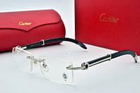 Имиджевые очки Cartier 31399851 серебро