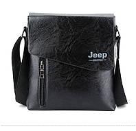 Кожаная мужская сумка Jeep Цвет коричневый!