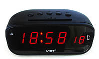 Автомобильные часы + термометр VST-803С будильник/ прикурка