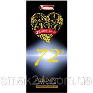 Шоколад без сахара Torras ZERO 72% какао Испания 100г