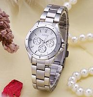 Наручные часы женские с серебристым ремешком код 316