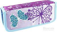 Пенал школьный  Glitter Butterfly 2 отделения Olli