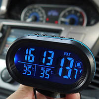 "Автомобильные часы + термометр и вольтметр VSТ 7009V ""соня""/ прикурка-батарейка"