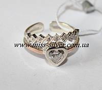 Кольцо миди с сердечком Amour, фото 1