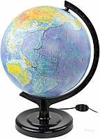 Глобус физический 32 см с подсветкой Тетрада