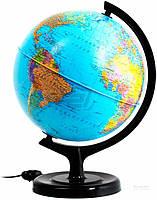 Глобус политический с подсветкой 32 см Тетрада