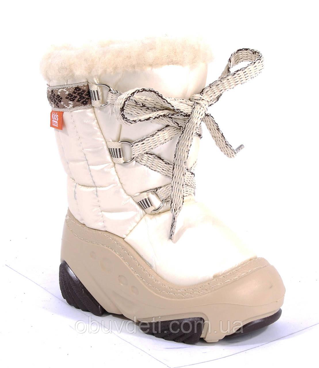 Дитячі зимові дутіки бежеві Demar 26-27 (17.0 cm)Joy