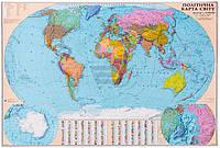 Карта мира политическая М1:22 000 000 160*110 см