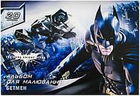Альбом для рисования  20 листов 100г/м2 на скобе Batman Cool For School
