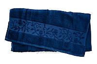 Полотенце махровое Hanibaba бамбук темно-синее 100х150 см