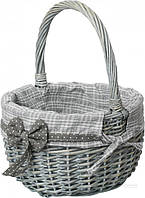 Корзина плетеная с текстилем 29х22х17/33 смEaster Easter 16-5A-2