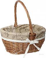 Корзина плетеная с текстилем 37x31x19/41 см Easter 16-3A-1