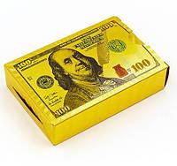 Карты игральные пластиковые GOLD 100 DOLLARS 54 листа(IG-4568-D)