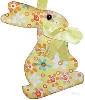 Декоративная подвеска Кролик зеленый 10 см LXA-9083