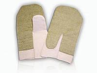 Рукавицы х/б с брезентовым наладонником, комбинированные хлопчато-бумажные