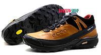 Мужские кожаные зимние ботинки Ecco Natural Motion Gore-Tex Olive 40,43р