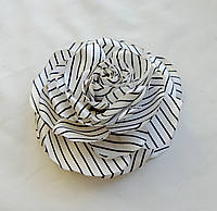 """Брошь из ткани ручной работы """"Роза Полосатое Чудо"""""""
