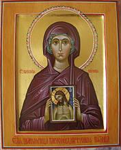 Святая мученица Параскева (рукопись, сусальное золото)