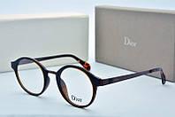 Оправа круглая Dior синяя с коричневым, фото 1