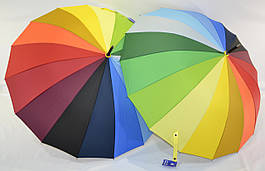 """Зонт трость радуга на 16 спиц """"анти-ветер"""" от фирмы """"Feeling Rain"""""""