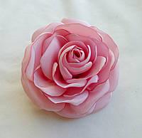 """Брошь из ткани ручной работы """"Розовая роза"""""""
