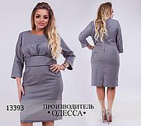 Платье 5769-1 отделка складочка R-13393 графит