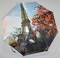 "Зонт женский полуавтомат сатин на 8 спиц из стеклопла́стика от фирмы ""Rivan"""