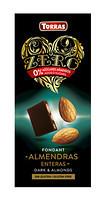 Черный шоколад без сахара Torras ZERO with almonds с миндалем 150 г
