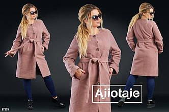 Пальто в больших размерах в расцветках (DG-с467)