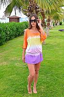 Двухцветная пляжная туника Iconique KA 3064 42(S) Оранжевый Iconique KA 3064 O