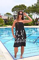 Черное пляжное платье на резинке Iconique KA 3025 42(S) Черный Iconique KA 3025