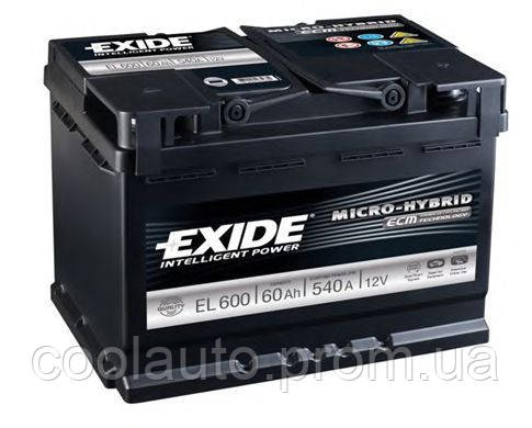 Аккумулятор Exide Classic 60AH/540A (EL600), фото 2