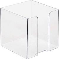 Бокс для бумаги Е32601-00  9х9х9 прозрачный