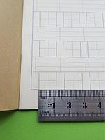 Тетрадь для написания иероглифов. Клетка 12 мм с пунктиром и расширенным полем для пиньинь. 1372 клетки, фото 1