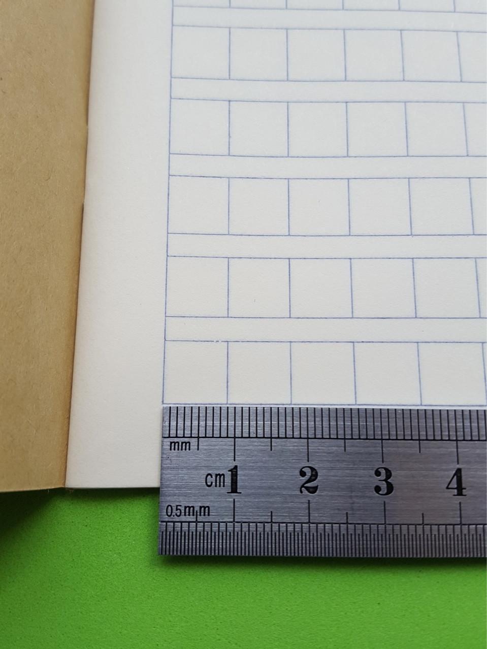 Зошит для написання ієрогліфів. Клітка 9 мм з полем для піньінь. 4732 клітини