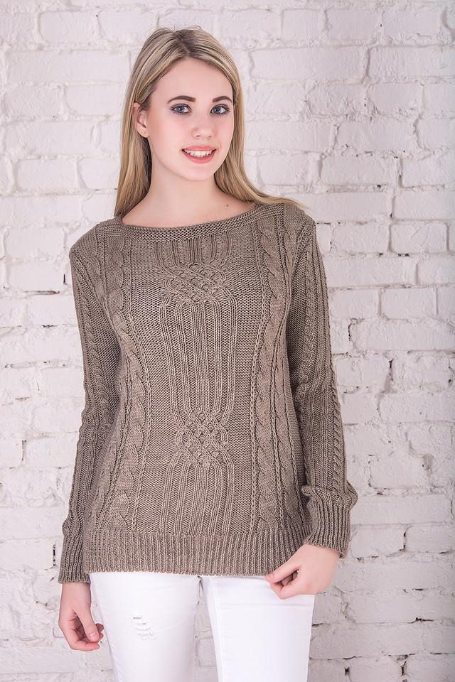 Цвет Фрез Вязаных женских свитеров Грейс