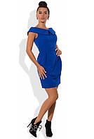 Деловое синее платье выше колена