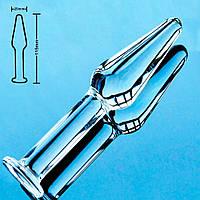 Анальная пробка Ice Plug S 2,5 см стекло для новичков