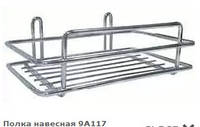 Полочка прямая металлическая для ванной комнаты и кухни
