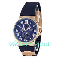Мужские механические часы Ulysse Nardin Marine Blue Gold  (Улисс Нардин)